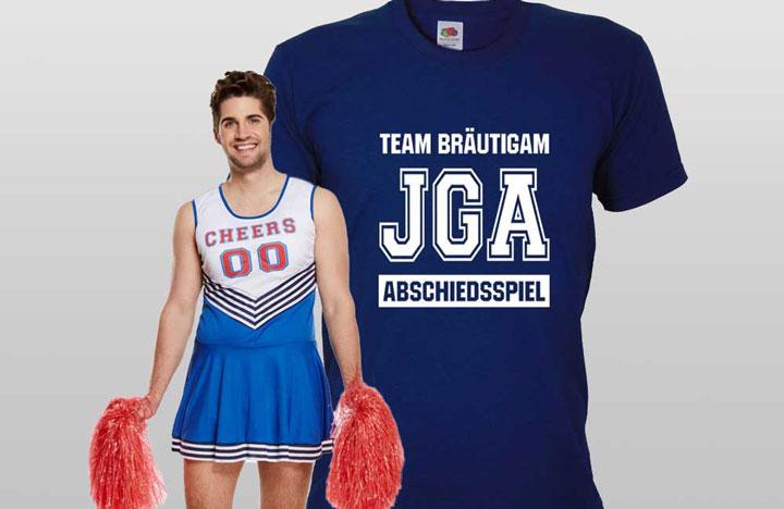 JGA Männer-Outfits im American Football-Stil