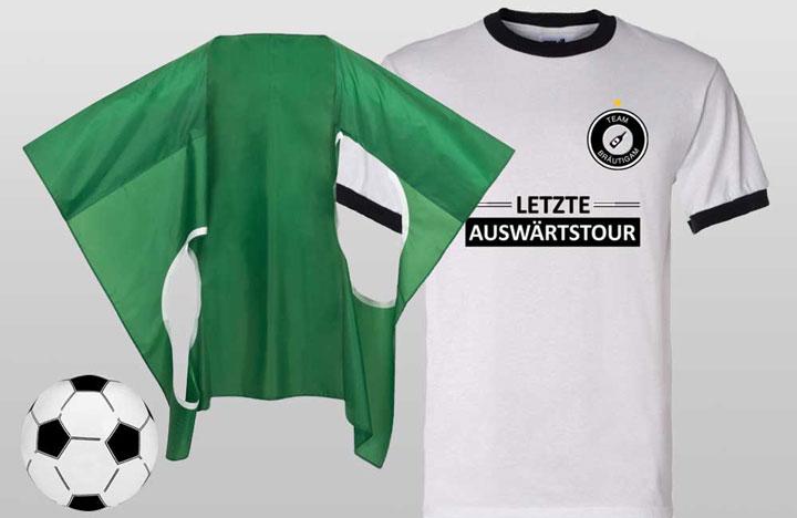 JGA Fussball-Outfit - Letzte Auswärtstour
