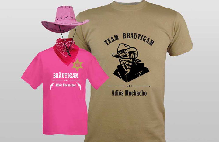 JGA Männer-Outfits im Western - Cowboy-Design