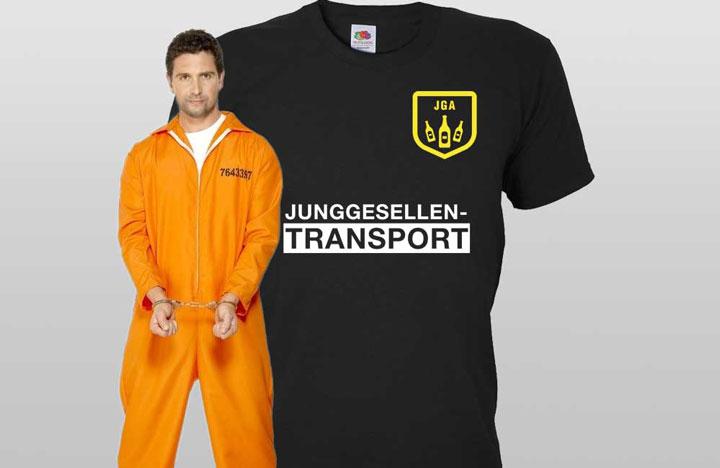 JGA Sträfling-Verkleidung für Männer