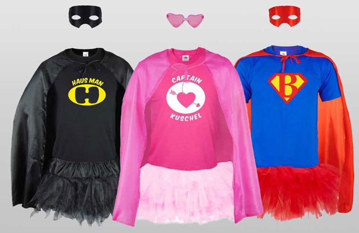 JGA Superhelden-Kostüme für Männer